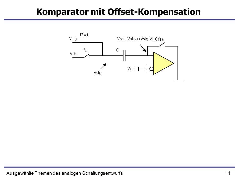 Komparator mit Offset-Kompensation
