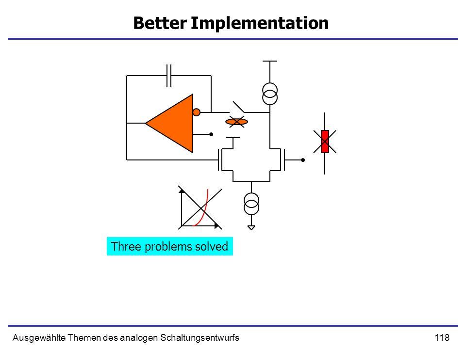 Better Implementation