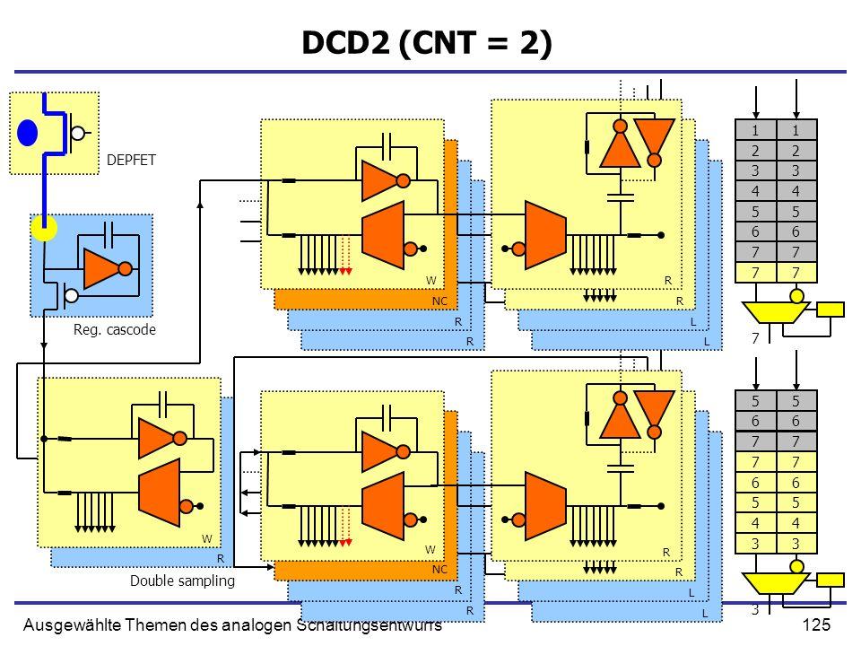 DCD2 (CNT = 2) Ausgewählte Themen des analogen Schaltungsentwurfs 1 1