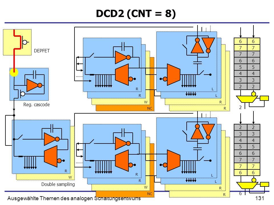 DCD2 (CNT = 8) Ausgewählte Themen des analogen Schaltungsentwurfs 6 6