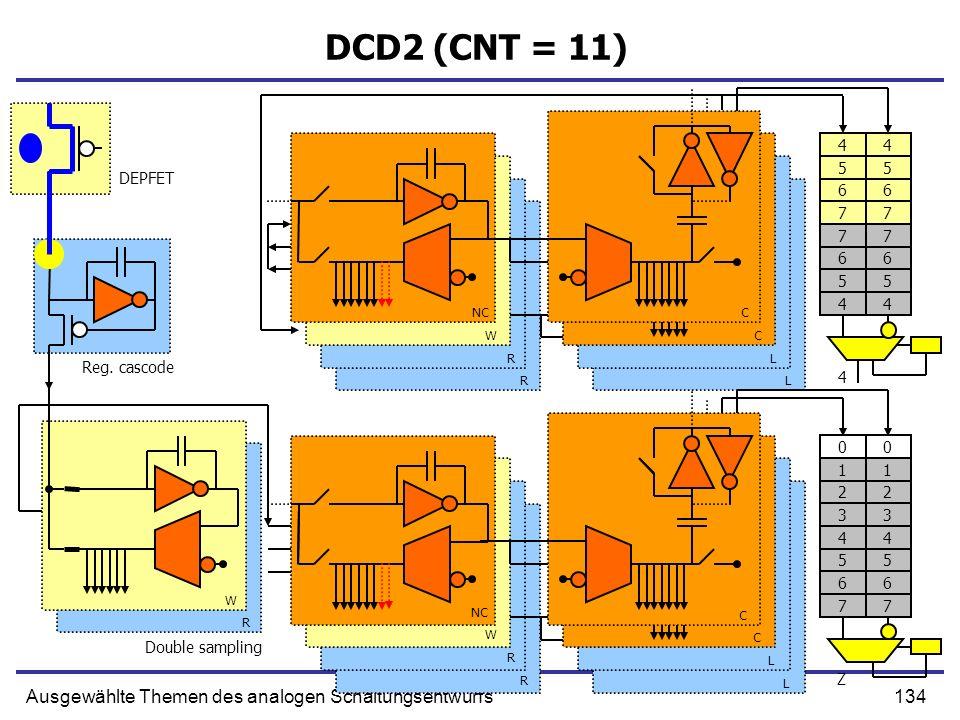 DCD2 (CNT = 11) Ausgewählte Themen des analogen Schaltungsentwurfs 4 4