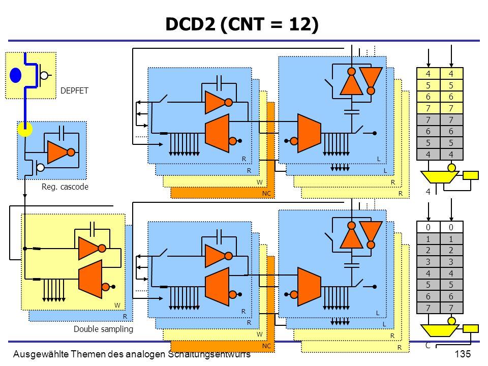 DCD2 (CNT = 12) Ausgewählte Themen des analogen Schaltungsentwurfs 4 4