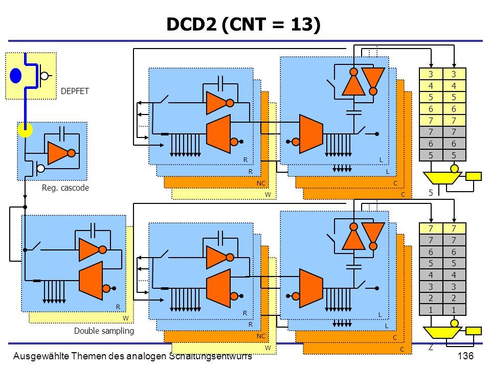 DCD2 (CNT = 13) Ausgewählte Themen des analogen Schaltungsentwurfs 3 3