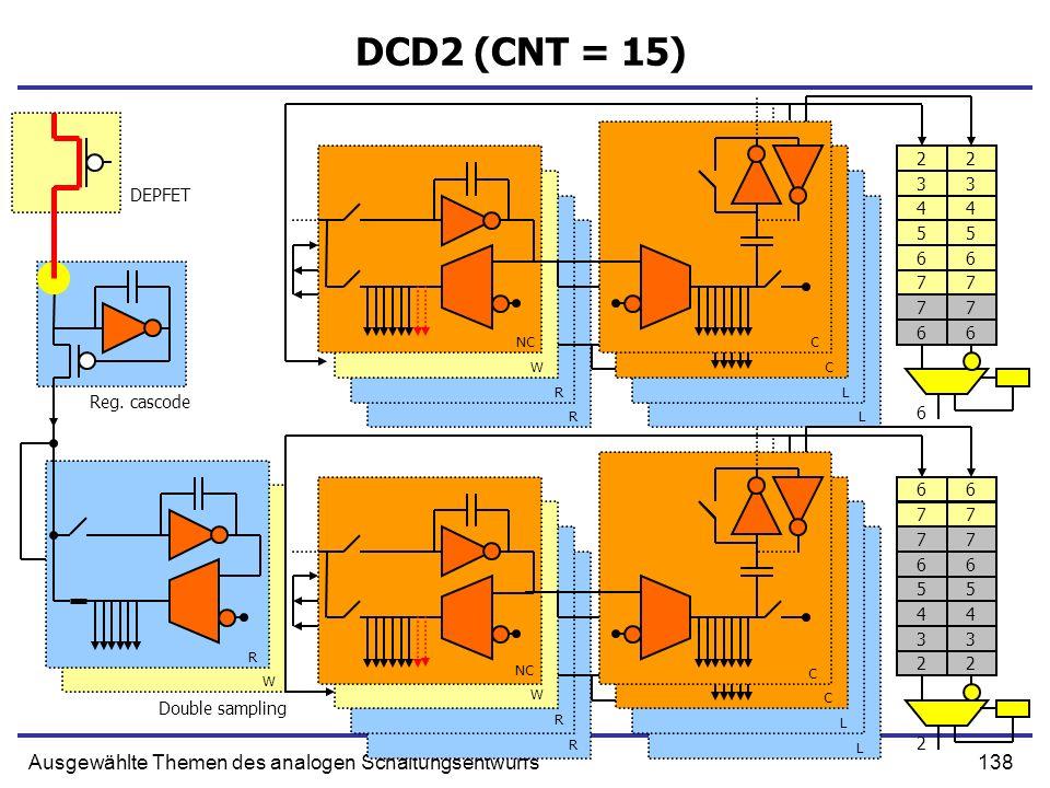 DCD2 (CNT = 15) Ausgewählte Themen des analogen Schaltungsentwurfs 2 2