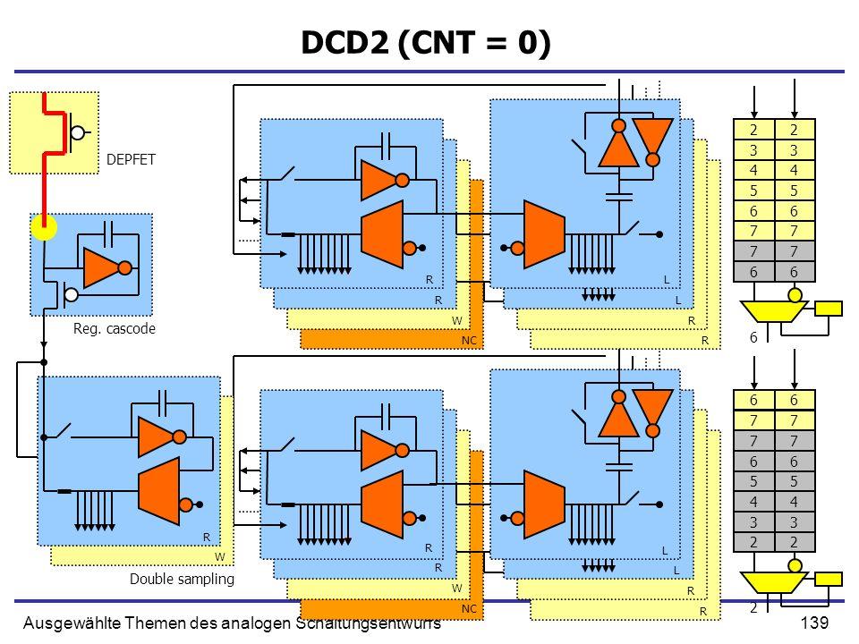 DCD2 (CNT = 0) Ausgewählte Themen des analogen Schaltungsentwurfs 2 2