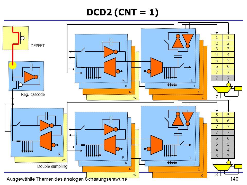DCD2 (CNT = 1) Ausgewählte Themen des analogen Schaltungsentwurfs 1 1