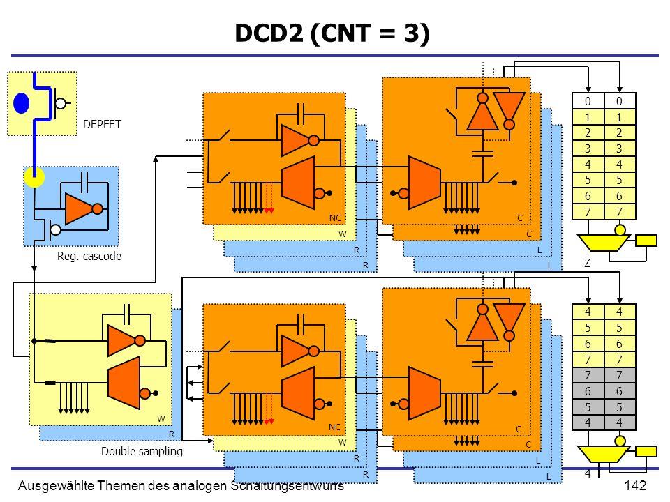 DCD2 (CNT = 3) Ausgewählte Themen des analogen Schaltungsentwurfs 1 1