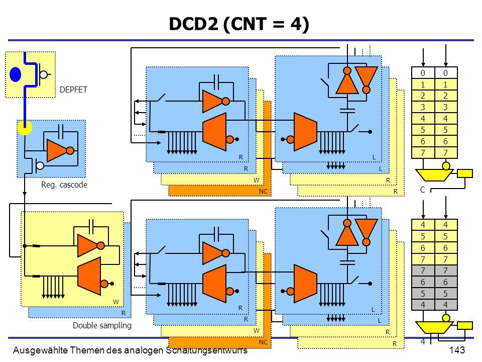 DCD2 (CNT = 4) Ausgewählte Themen des analogen Schaltungsentwurfs 1 2