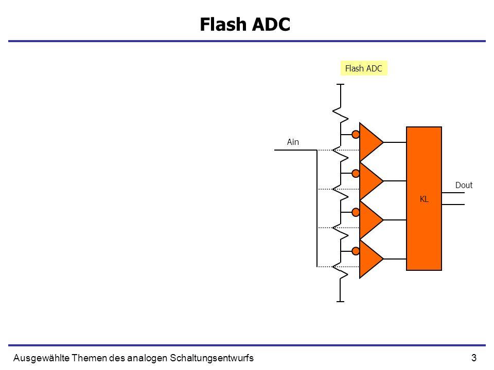 Flash ADC Ausgewählte Themen des analogen Schaltungsentwurfs Flash ADC