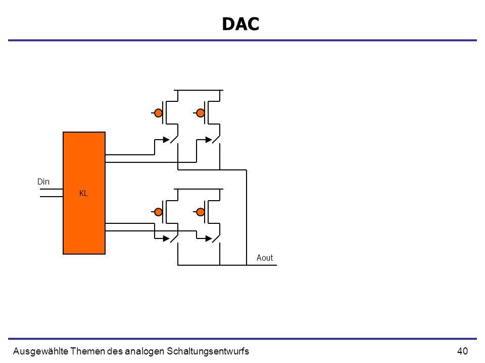 DAC KL Din Aout Ausgewählte Themen des analogen Schaltungsentwurfs