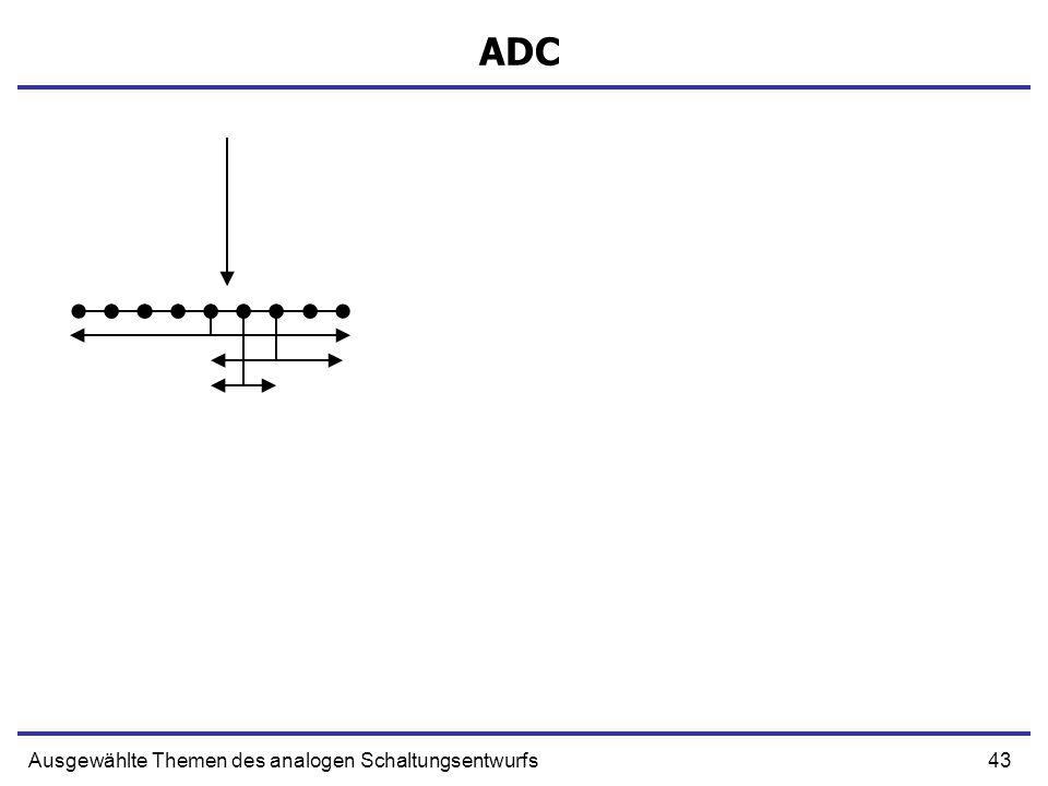 ADC Ausgewählte Themen des analogen Schaltungsentwurfs