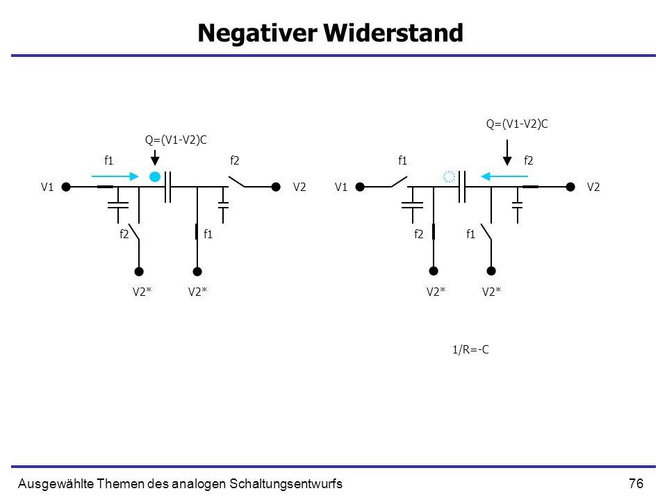 Negativer Widerstand Q=(V1-V2)C. Q=(V1-V2)C. f1. f2. f1. f2. V1. V2. V1. V2. f2. f1. f2.