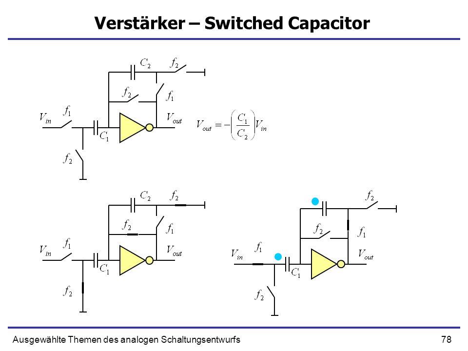 Verstärker – Switched Capacitor