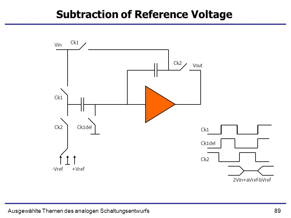 Subtraction of Reference Voltage