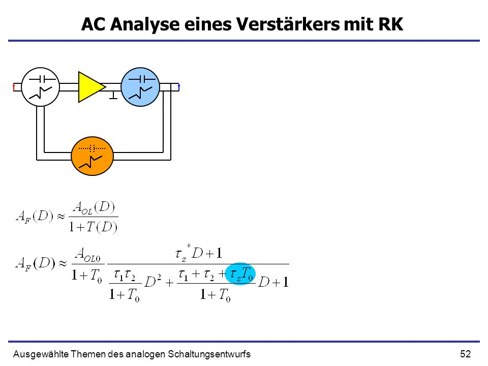 AC Analyse eines Verstärkers mit RK