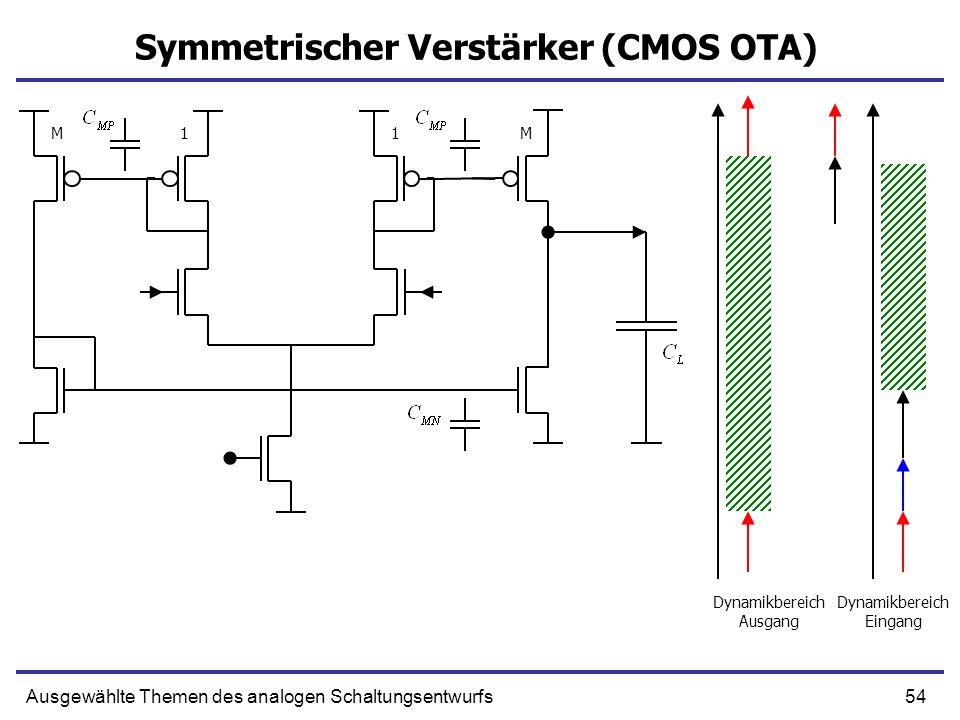 Symmetrischer Verstärker (CMOS OTA)