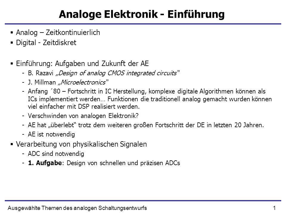 Analoge Elektronik - Einführung