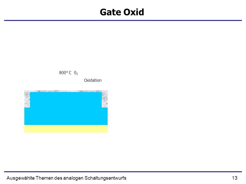 Gate Oxid Ausgewählte Themen des analogen Schaltungsentwurfs 800° C 02