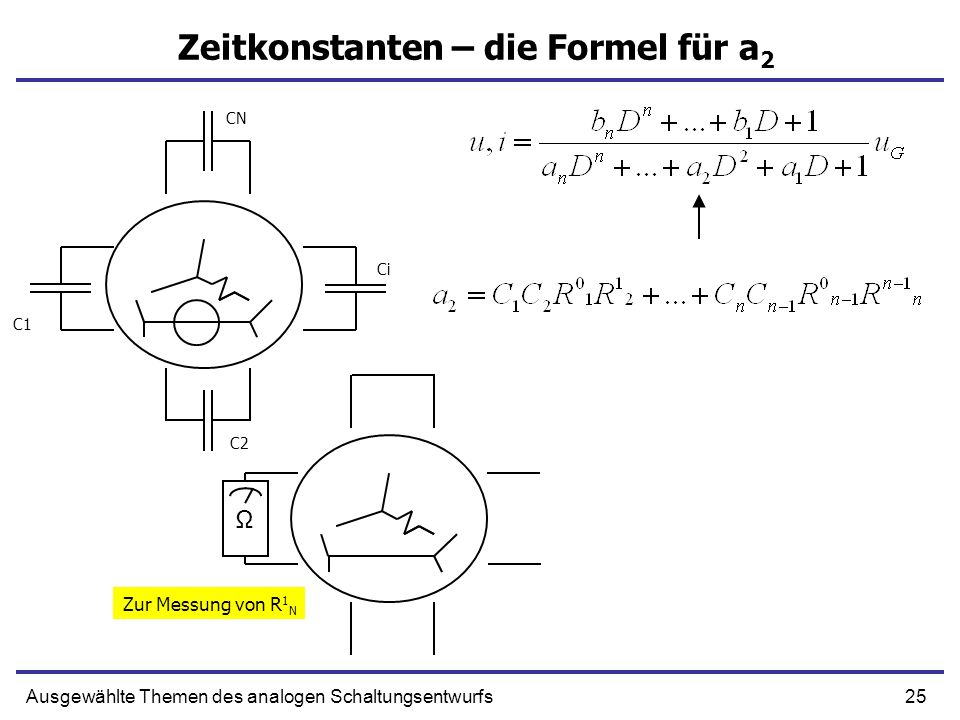 Zeitkonstanten – die Formel für a2
