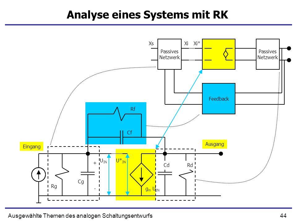 Analyse eines Systems mit RK