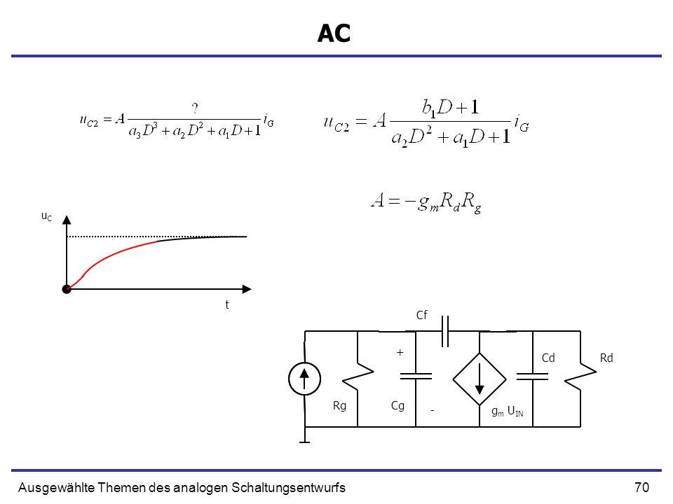 AC Ausgewählte Themen des analogen Schaltungsentwurfs uC t Cf + Cd Rd