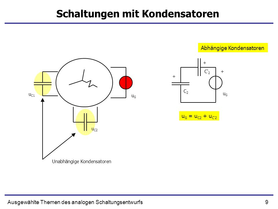 Schaltungen mit Kondensatoren