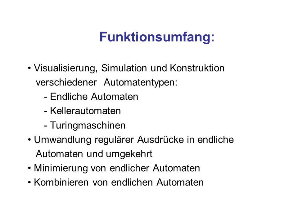 Funktionsumfang: Visualisierung, Simulation und Konstruktion