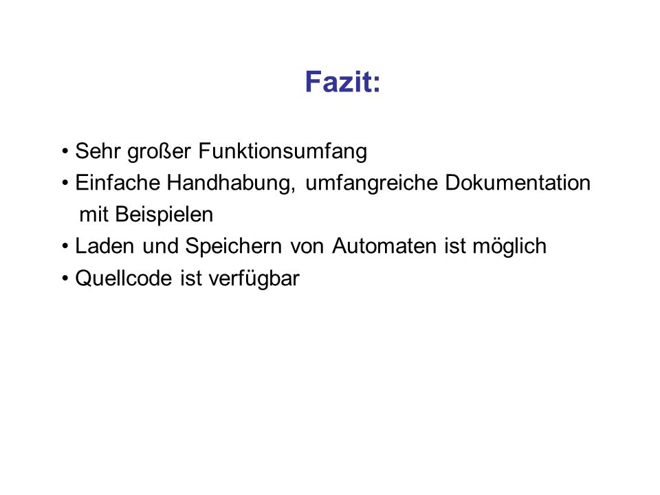 Fazit: Sehr großer Funktionsumfang