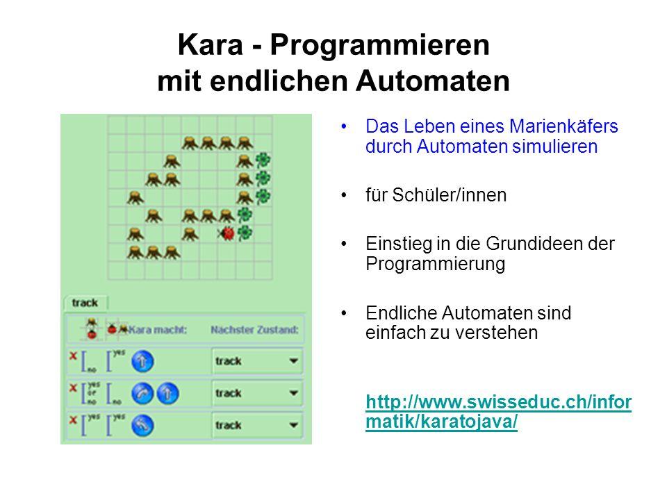 Kara - Programmieren mit endlichen Automaten