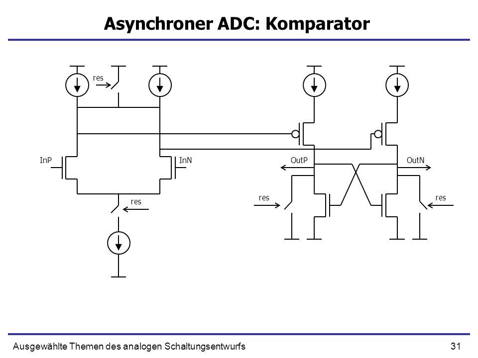 Asynchroner ADC: Komparator