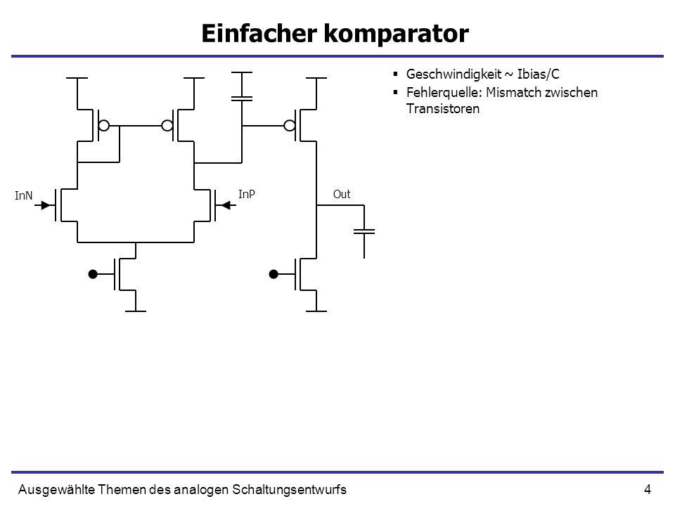 Einfacher komparator Geschwindigkeit ~ Ibias/C