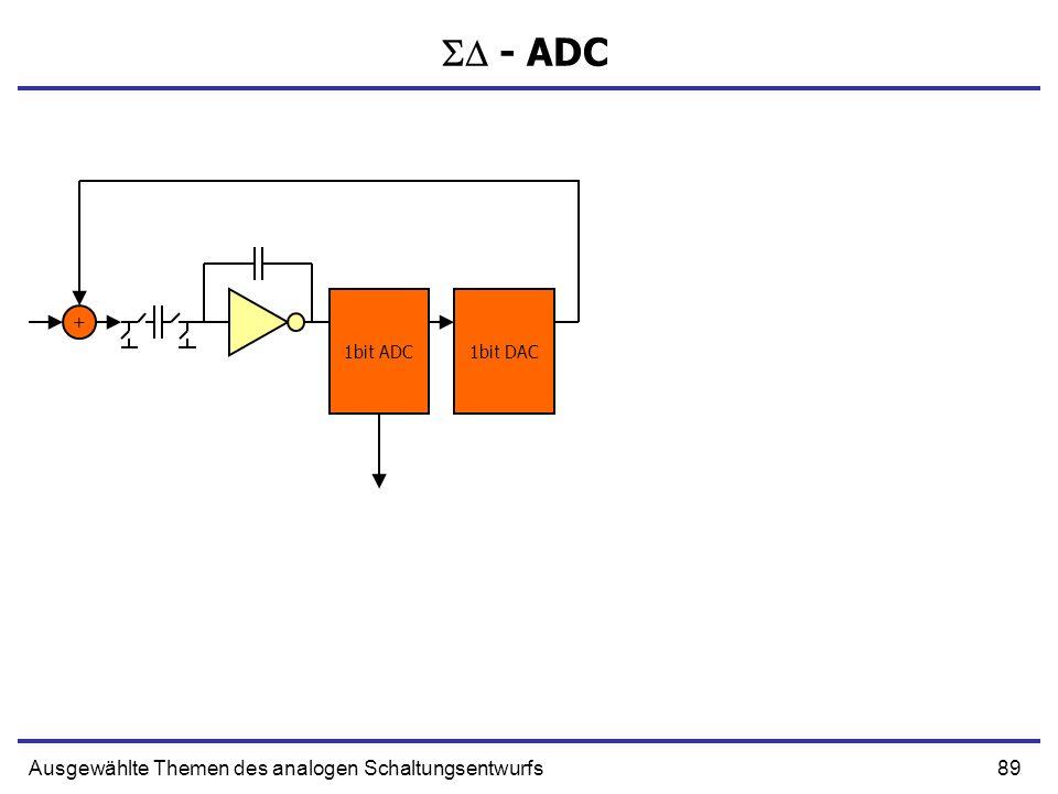  - ADC Ausgewählte Themen des analogen Schaltungsentwurfs 1bit ADC