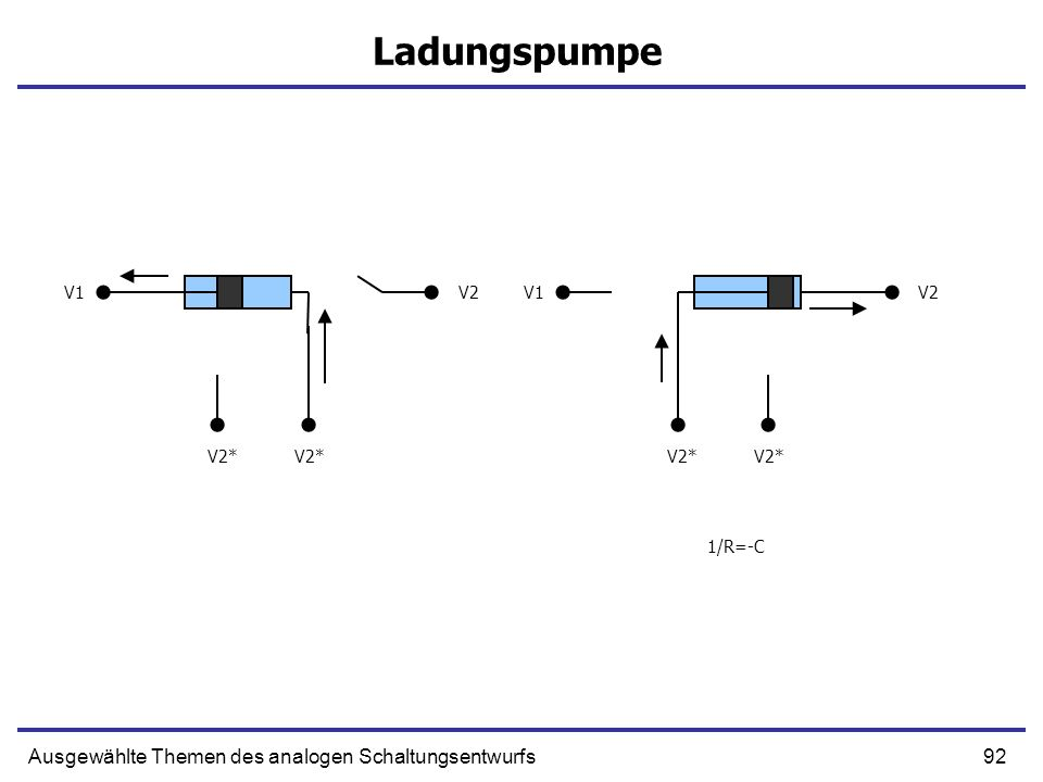 Ladungspumpe Ausgewählte Themen des analogen Schaltungsentwurfs V1 V2