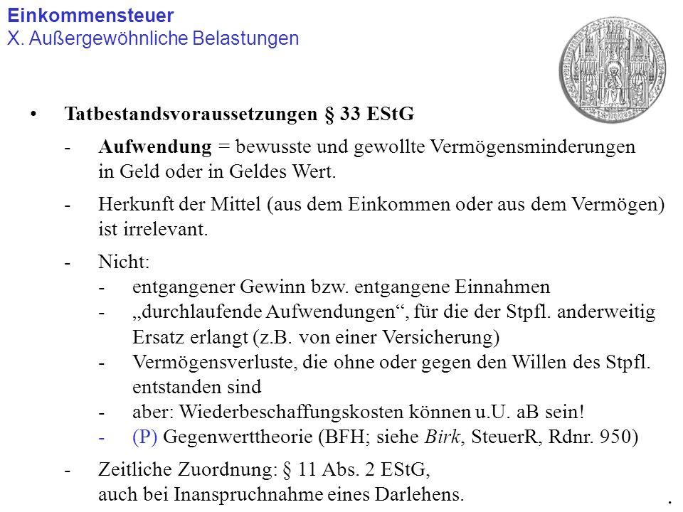 . Tatbestandsvoraussetzungen § 33 EStG