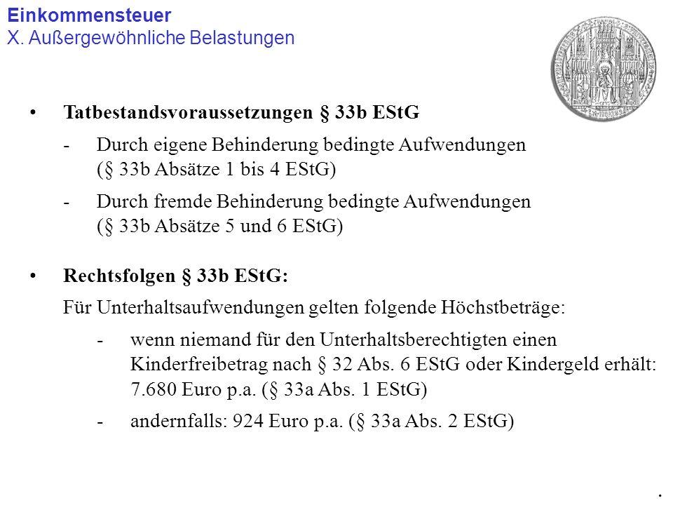 . Tatbestandsvoraussetzungen § 33b EStG