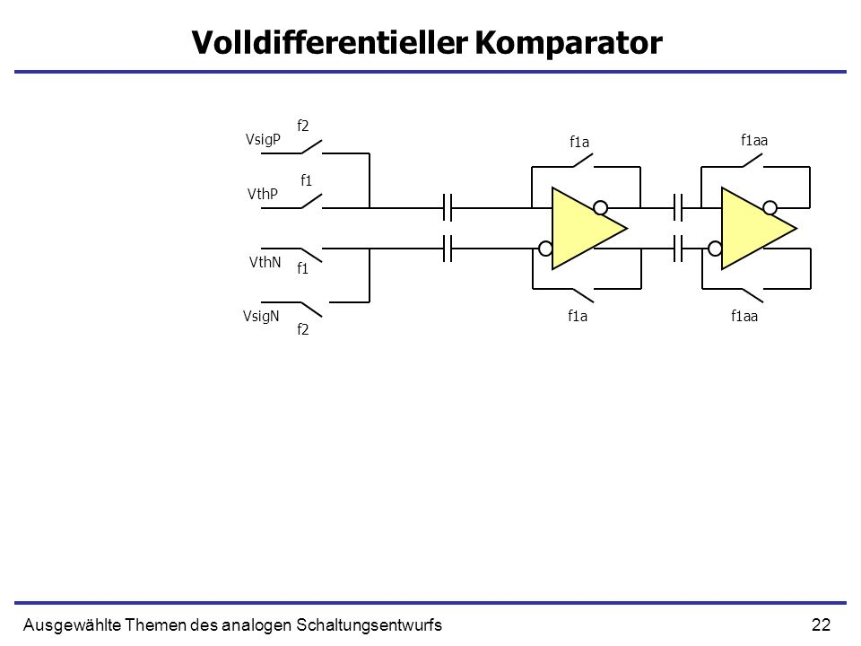 Volldifferentieller Komparator