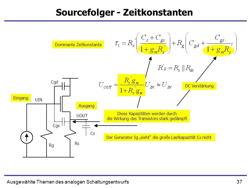 Sourcefolger - Zeitkonstanten