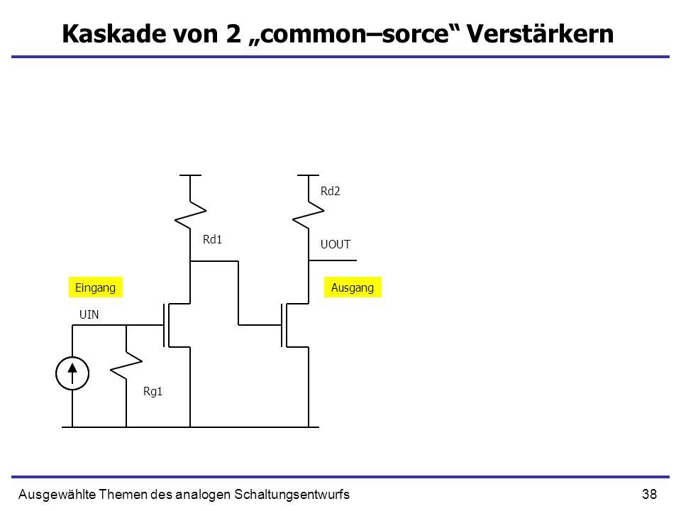 "Kaskade von 2 ""common–sorce Verstärkern"