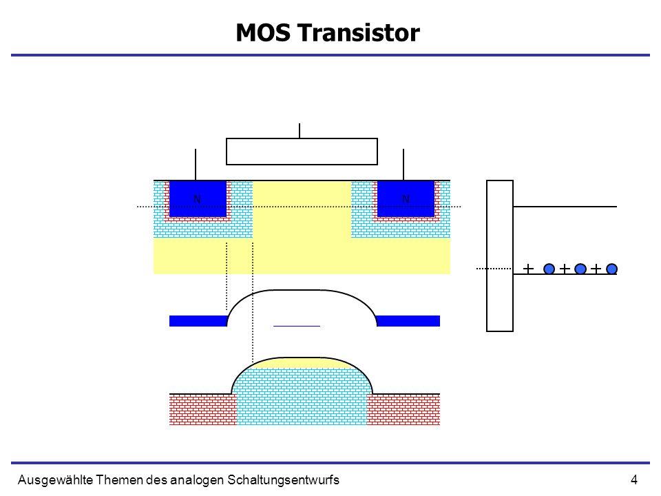 MOS Transistor N N Ausgewählte Themen des analogen Schaltungsentwurfs