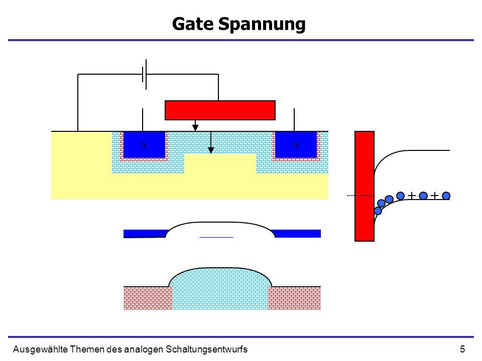 Gate Spannung Ausgewählte Themen des analogen Schaltungsentwurfs N N N