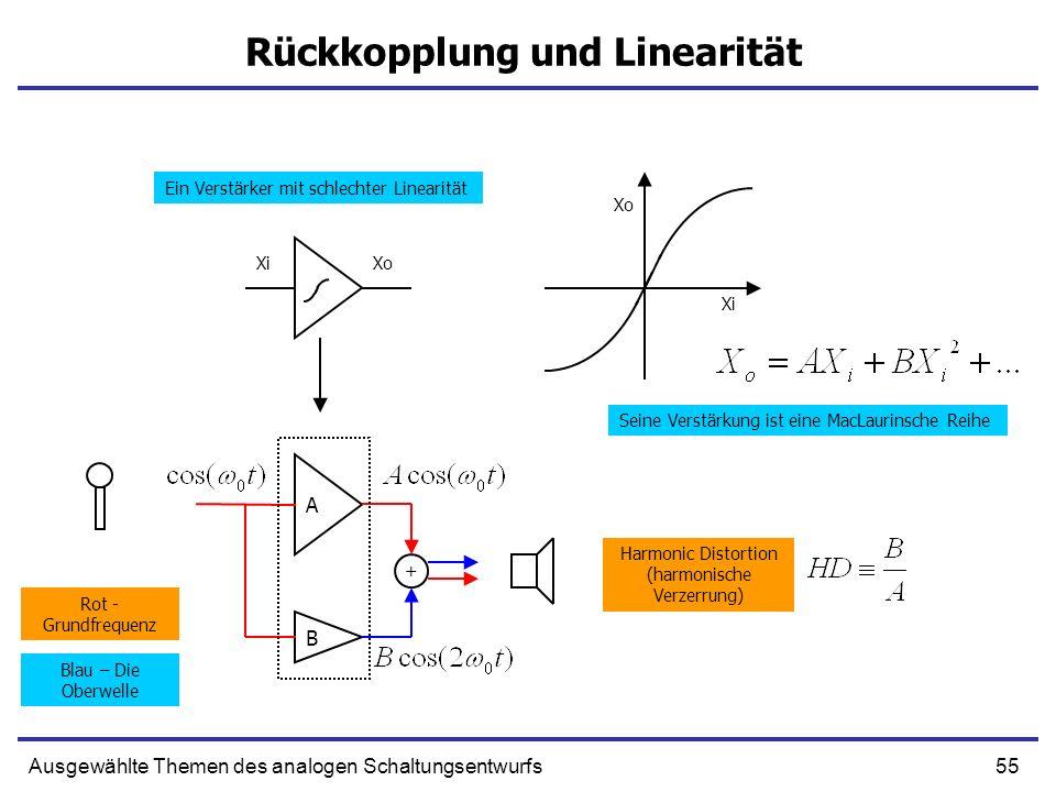 Rückkopplung und Linearität