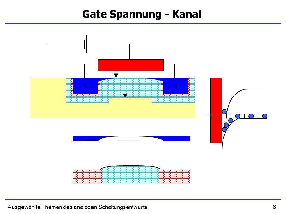 Gate Spannung - Kanal N N N N Ausgewählte Themen des analogen Schaltungsentwurfs