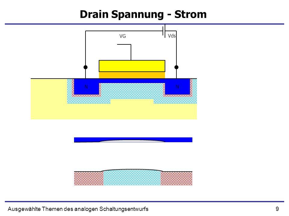 Drain Spannung - Strom VG Vds N N N N Ausgewählte Themen des analogen Schaltungsentwurfs