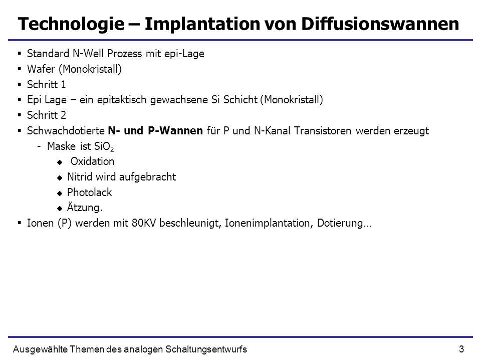 Technologie – Implantation von Diffusionswannen