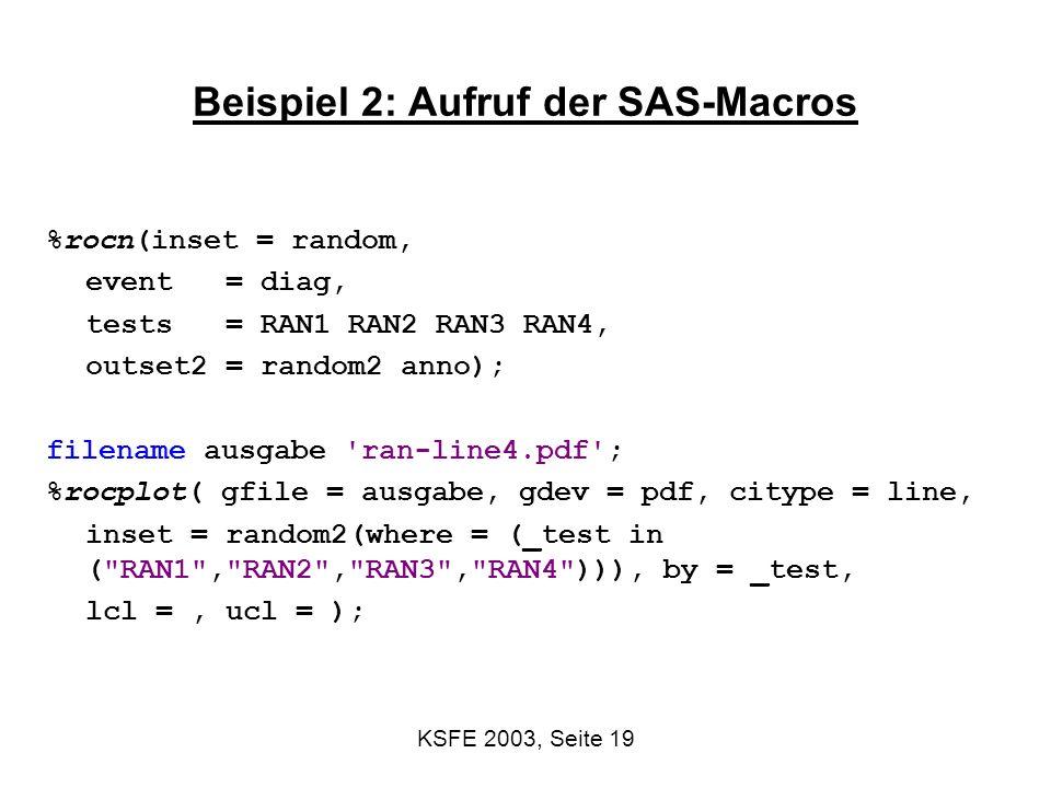Beispiel 2: Aufruf der SAS-Macros