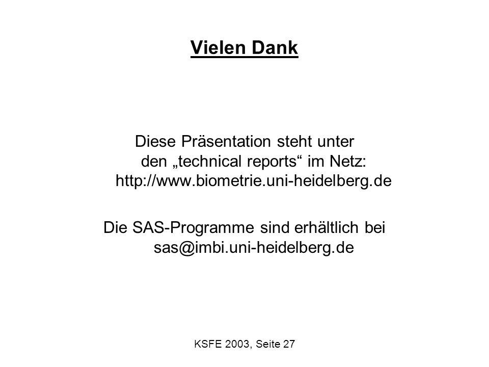 Die SAS-Programme sind erhältlich bei sas@imbi.uni-heidelberg.de