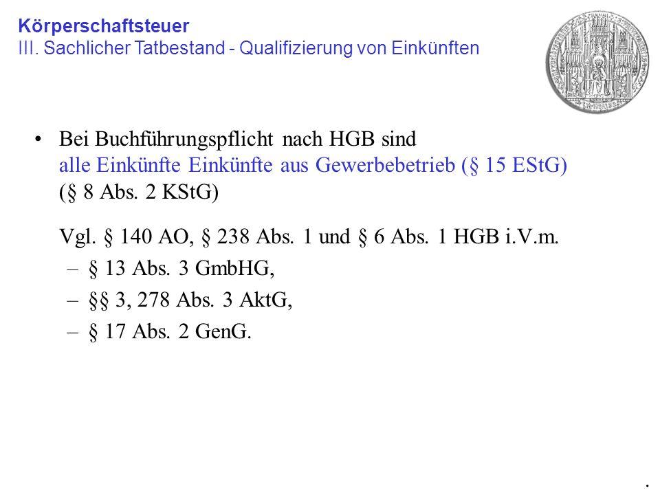 Vgl. § 140 AO, § 238 Abs. 1 und § 6 Abs. 1 HGB i.V.m.