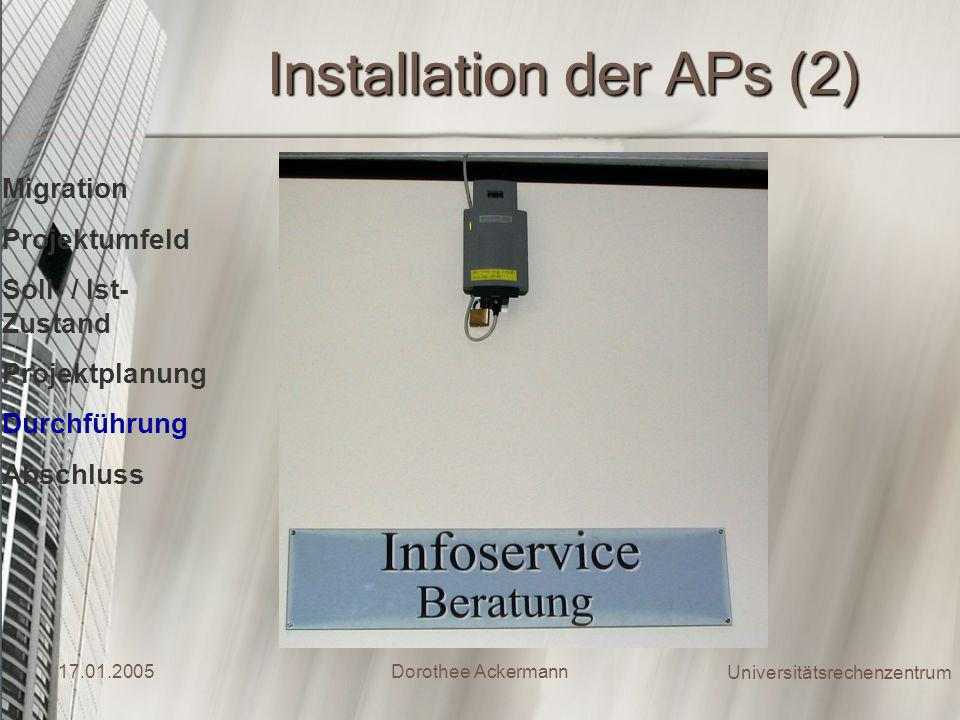 Installation der APs (2)