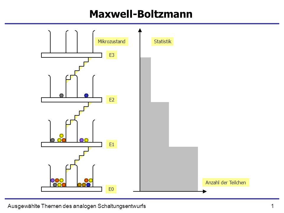 Maxwell-Boltzmann Ausgewählte Themen des analogen Schaltungsentwurfs