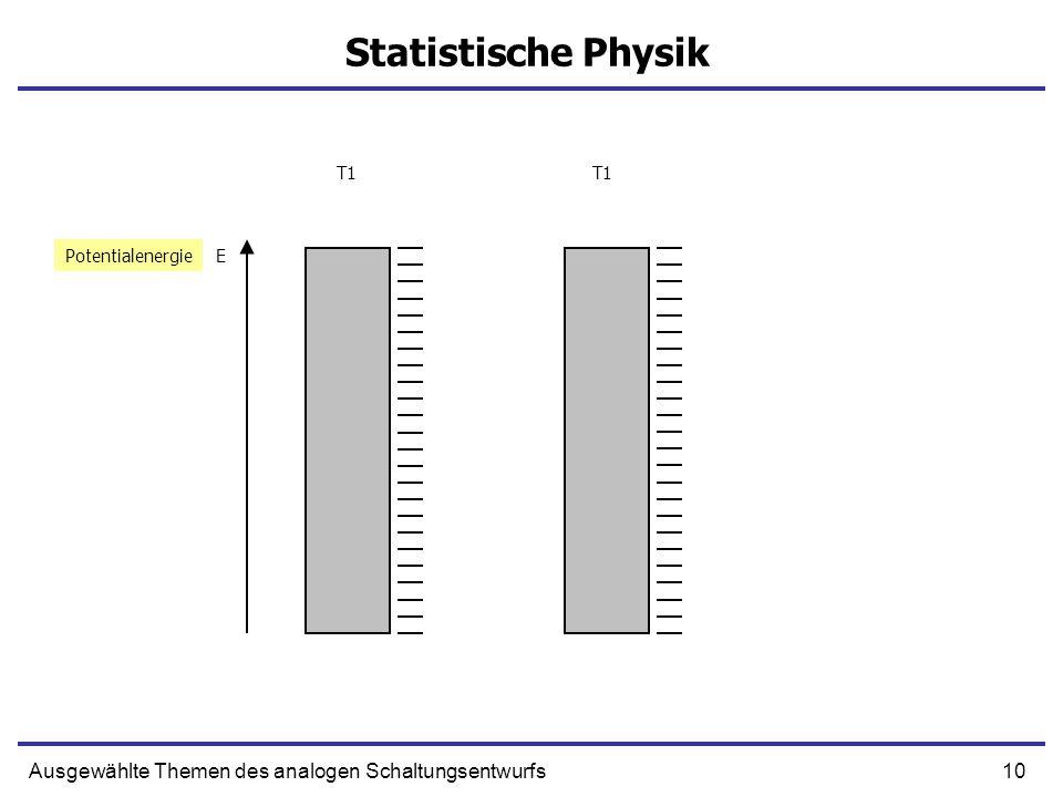 Statistische Physik Ausgewählte Themen des analogen Schaltungsentwurfs